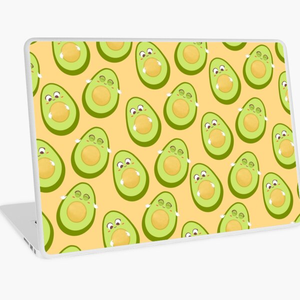 Baby avocado pattern Illustration cream background Laptop Skin