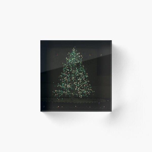 Christmas Tree Magic Acrylic Block