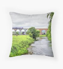 Whalley Viaduct. Throw Pillow