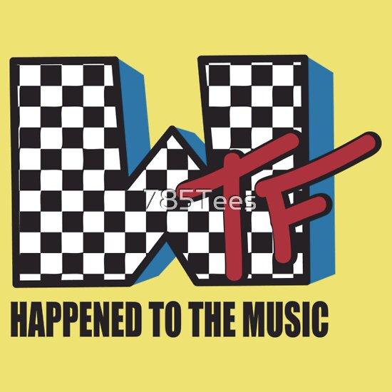TShirtGifter presents: WTF Funny Music Shirt