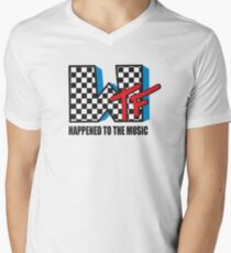 WTF Funny Music Shirt Men's V-Neck T-Shirt