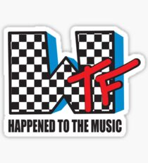 WTF Funny Music Shirt Sticker