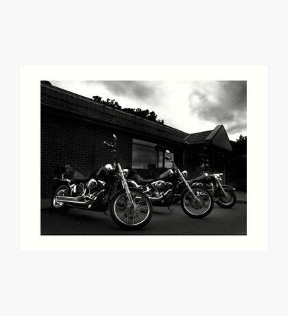 Bikers' Break Art Print
