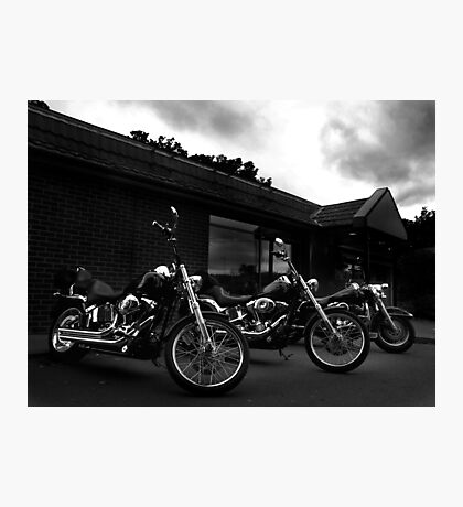 Bikers' Break Photographic Print