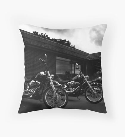 Bikers' Break Throw Pillow