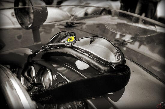 Vintage Ferrari Dreaming by Luke Griffin