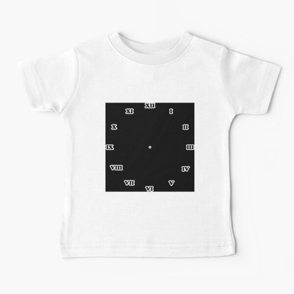 Clock dial with Roman numerals Baby T-Shirt