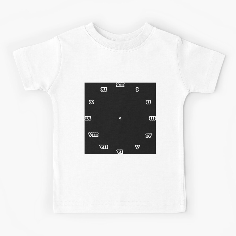Clock dial with Roman numerals Kids T-Shirt