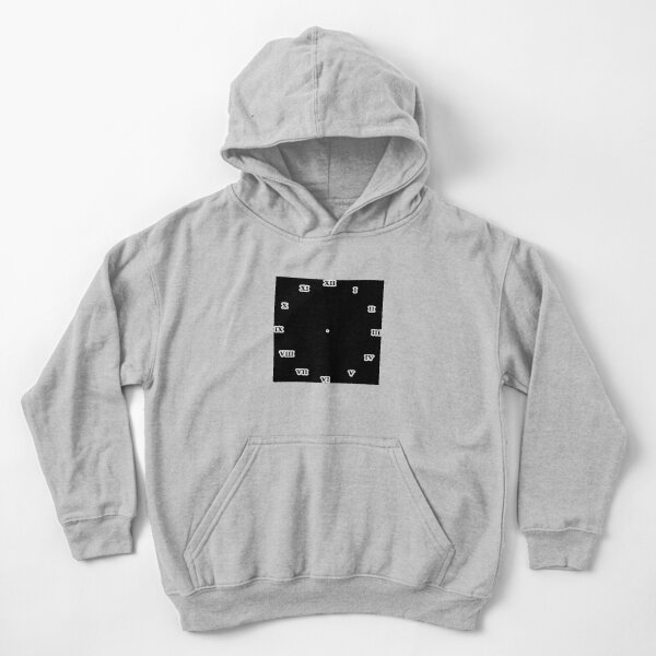 Clock dial with Roman numerals Kids Pullover Hoodie