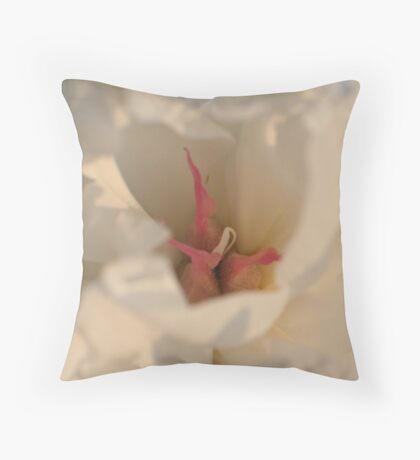 Centering on Peonies Throw Pillow