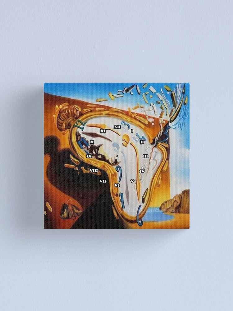 Alternate view of Salvador Dali Paintings Watches Canvas Print