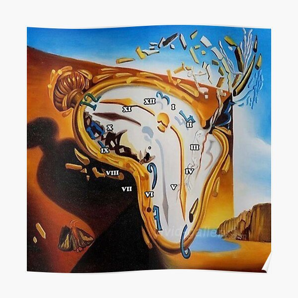 Salvador Dali Paintings Watches Poster