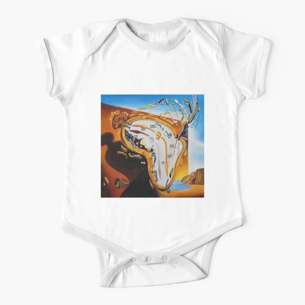 Salvador Dali Paintings Watches Short Sleeve Baby One-Piece