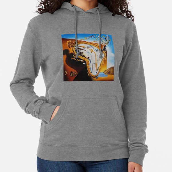 Salvador Dali Paintings Watches Lightweight Hoodie