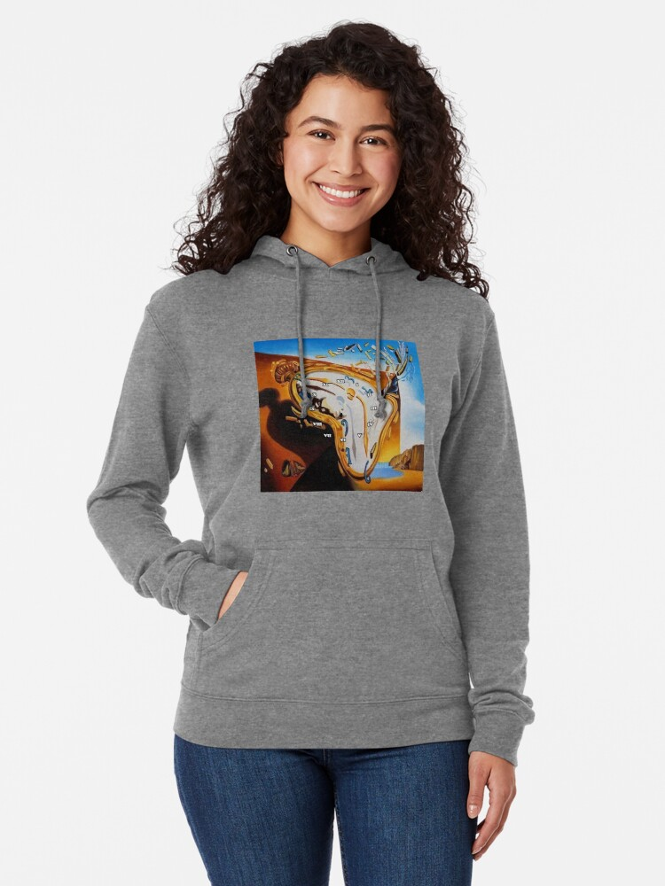 Alternate view of Salvador Dali Paintings Watches Lightweight Hoodie