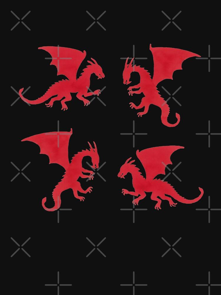 Red Dragons Pattern by nadyanadya