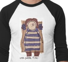 petite fille... Men's Baseball ¾ T-Shirt