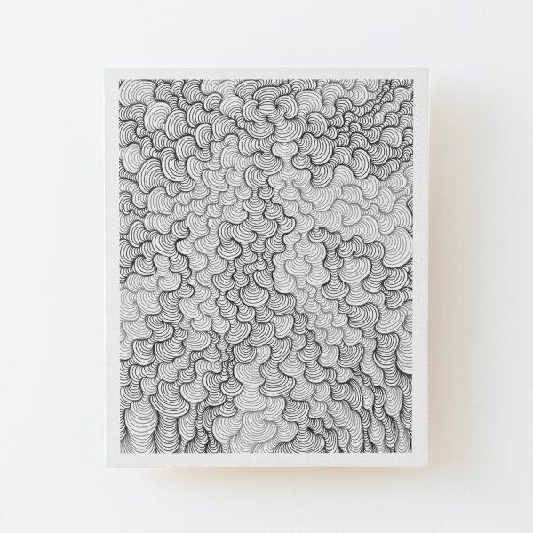 Schwerkraft-Kunstserie Aufgezogener Druck auf Holz