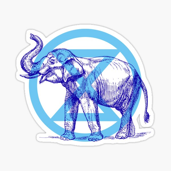 Extinction Rebellion - Elephant Sticker