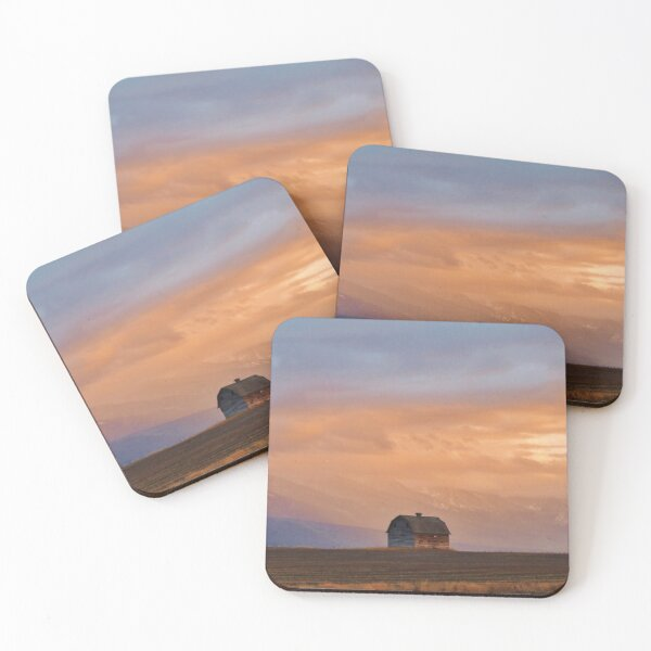 Sunset on the Mission Valley Coasters (Set of 4)