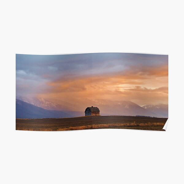 Sunset on the Mission Valley Poster
