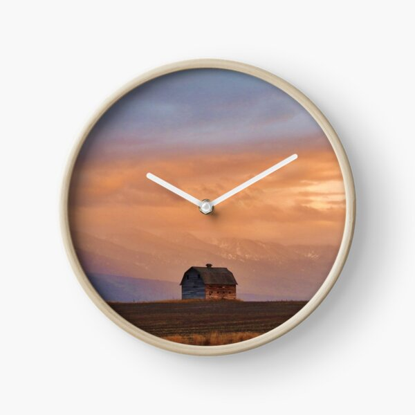 Sunset on the Mission Valley Clock