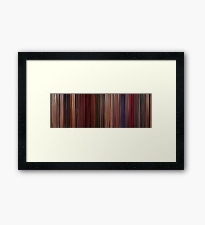 Moviebarcode: Fear and Loathing in Las Vegas (1998) Framed Print