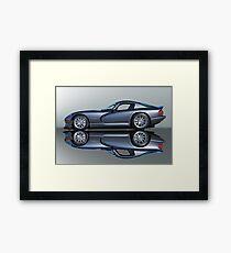 2000 Dodge Viper GTS VS4 'Mirror Image' Framed Print