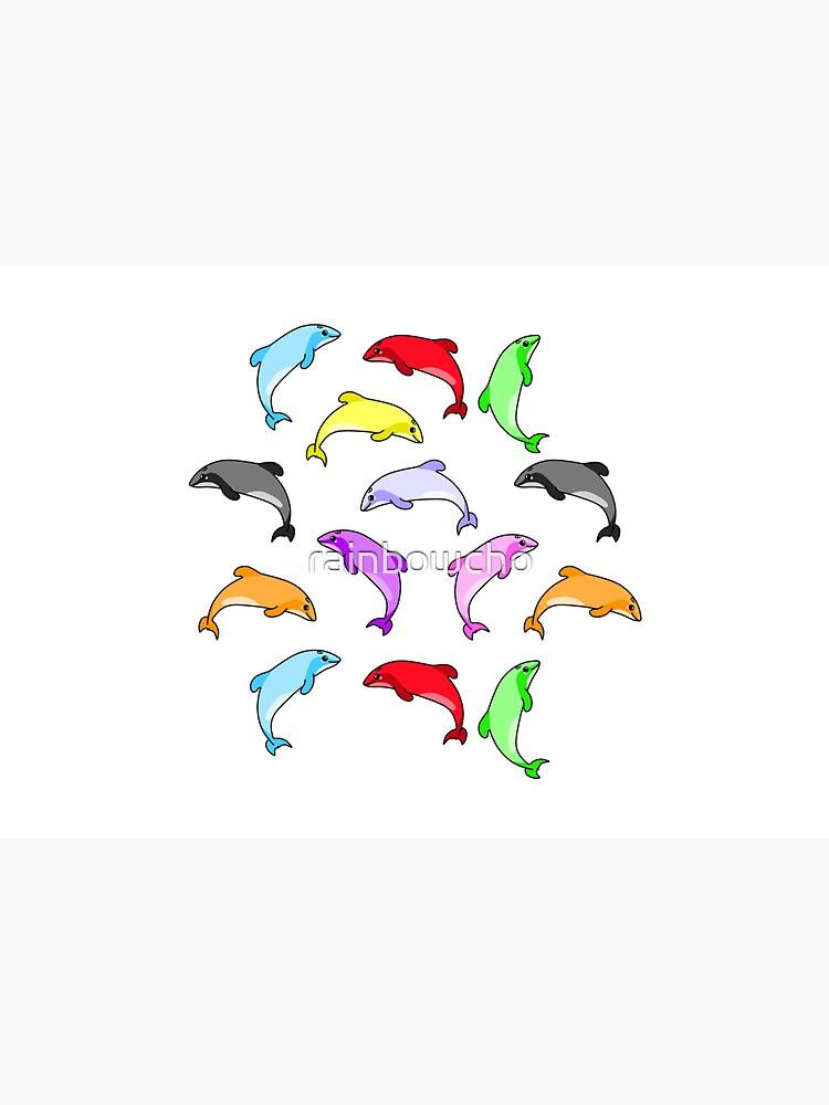 Rainbow dolphins pattern by rainbowcho