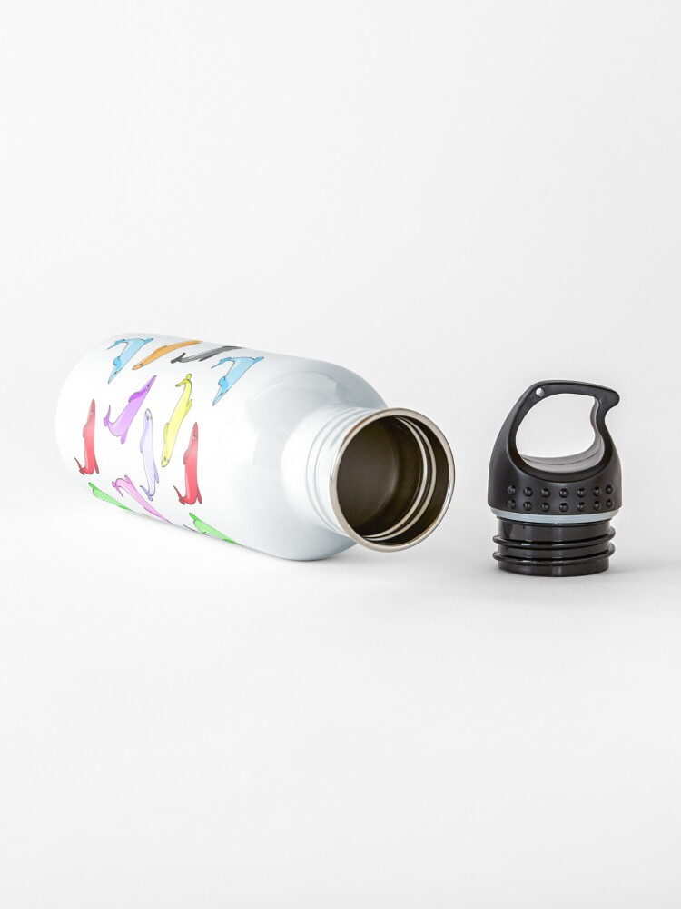 Alternate view of Rainbow dolphins pattern Water Bottle