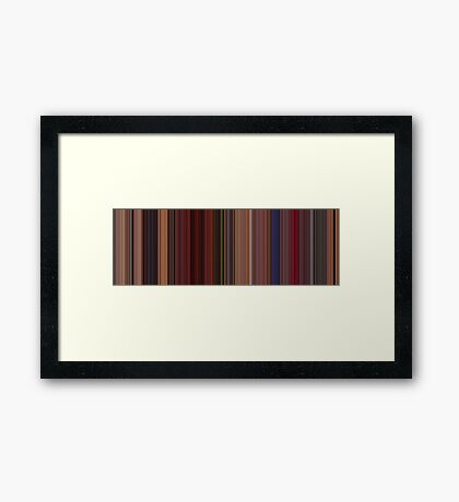 Moviebarcode: Fear and Loathing in Las Vegas (1998) [Simplified Colors] Framed Print