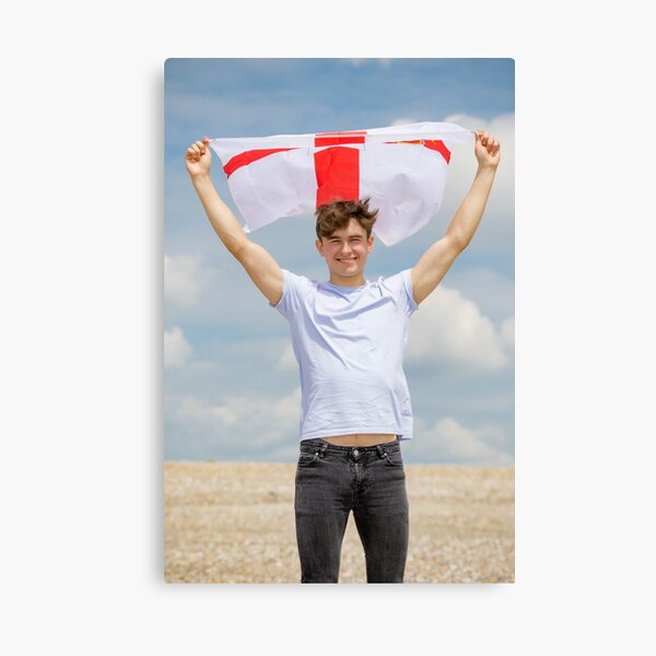 A young man with the Flag of Northern Ireland Canvas Print