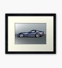 2000 Dodge Viper GTS VS3 'Profile' Framed Print