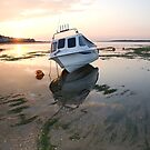 Low tide at sunset, Devon by Mark Curry