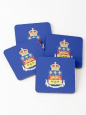 Quebec Flag Stickers, Gifts and other Products Coasters