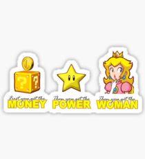 Money Power WOMAN!!!! Sticker