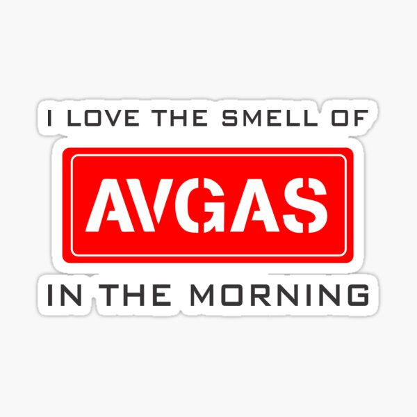 Model 9 - Smell of Avgas Sticker