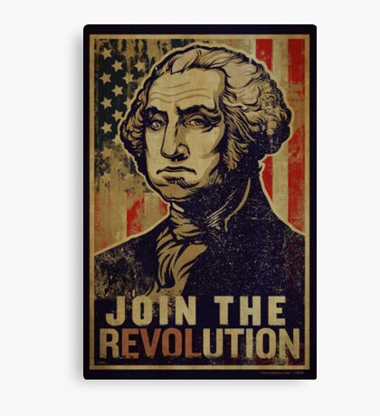 Washington Revolution Propaganda Canvas Print