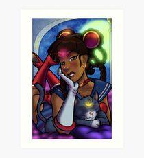 African American Sailor Moon Art Print
