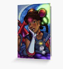 African American Sailor Moon Greeting Card