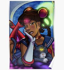 African American Sailor Moon Poster
