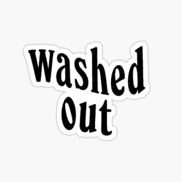 Ausgewaschenes Logo Sticker