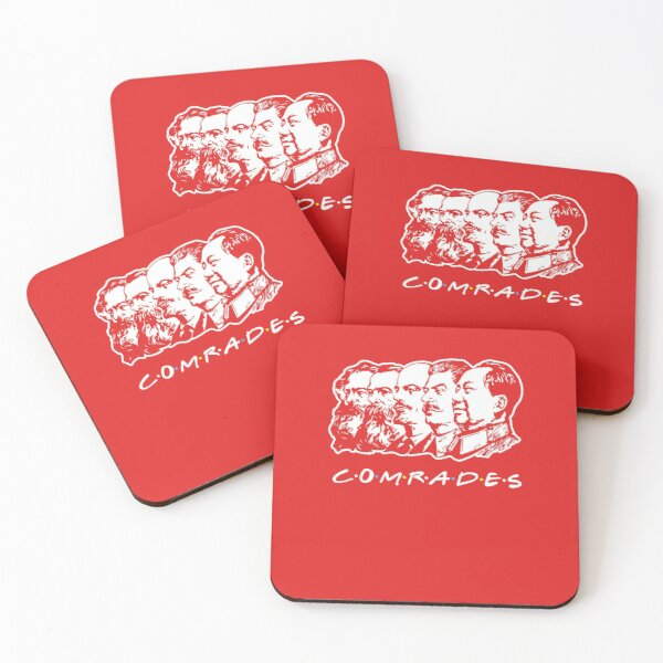 Communist Comrades Friends Coasters (Set of 4)