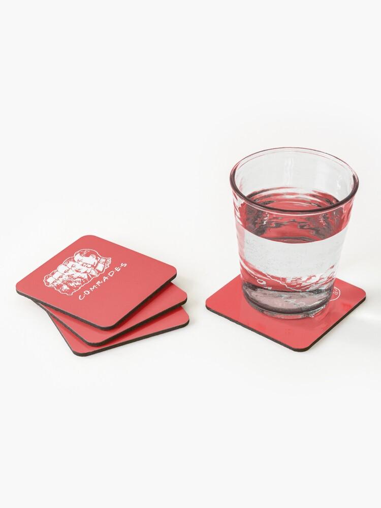Alternate view of Communist Comrades Friends Coasters (Set of 4)