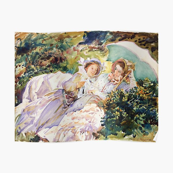 Simplon Pass The Tease by John Singer Sargent (1911) Poster