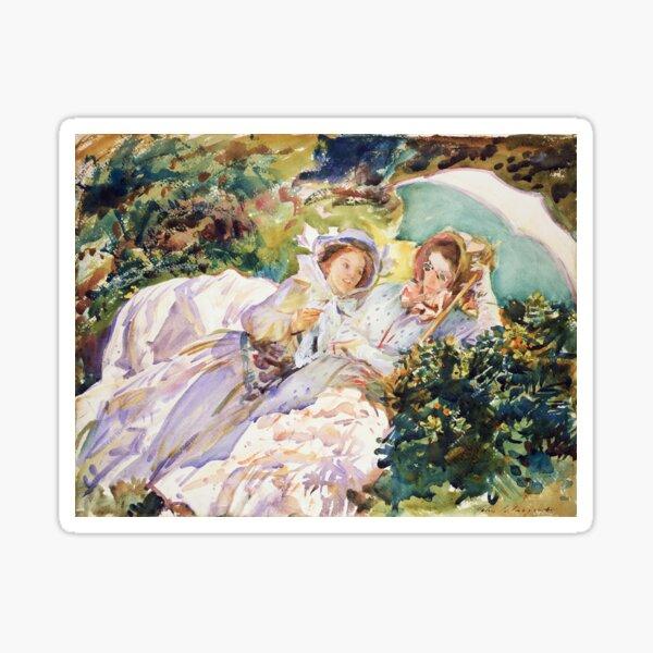 Simplon Pass The Tease by John Singer Sargent (1911) Sticker