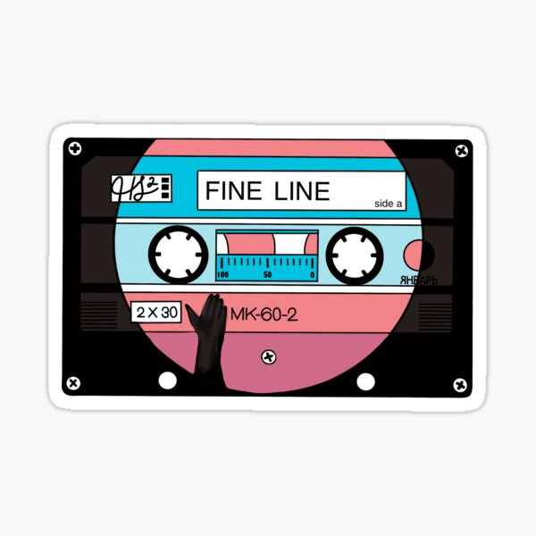 fine line cassette tape Sticker