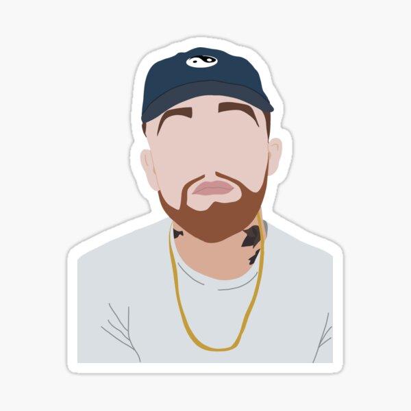 Mac Miller Portrait Sticker
