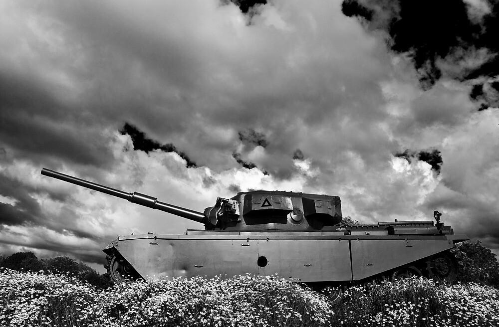 Centurion Tank On Guard by Adam Kennedy