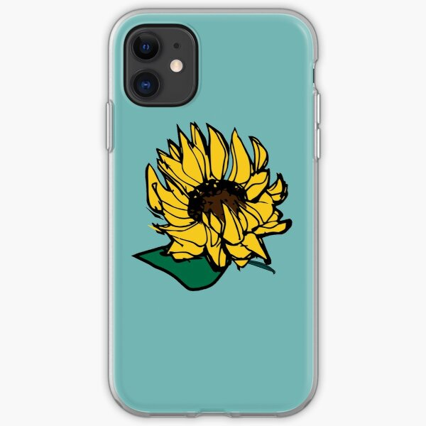 Sunflower Falling iPhone Soft Case